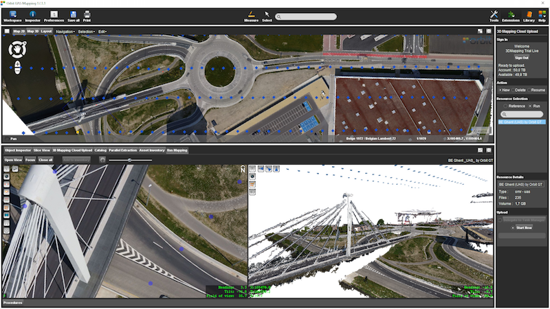 Upload UAS Mapping data – 3D Mapping Cloud