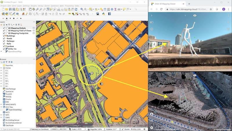 Launching the QGIS Plugin – 3D Mapping Cloud